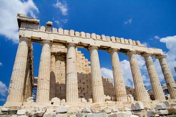 the acropolis, side view.