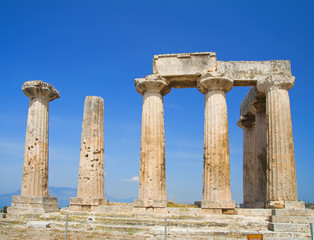 apollo temple, corinth