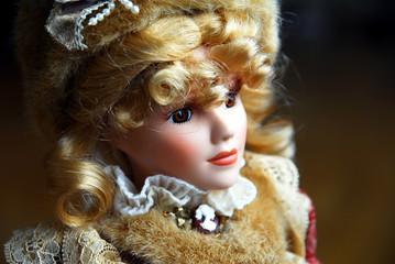 closeup of blond lady