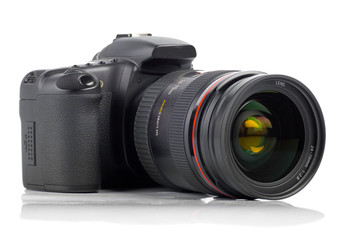 isolated digital camera