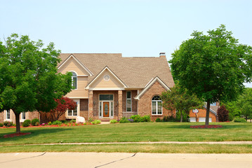 residential two story brick home