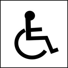 pictogramme acces handicapes