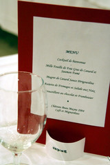 ceremony menu