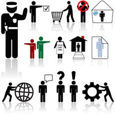 people icons - human symbol beings