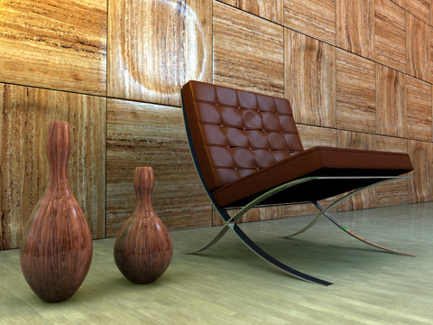 design interior with chair