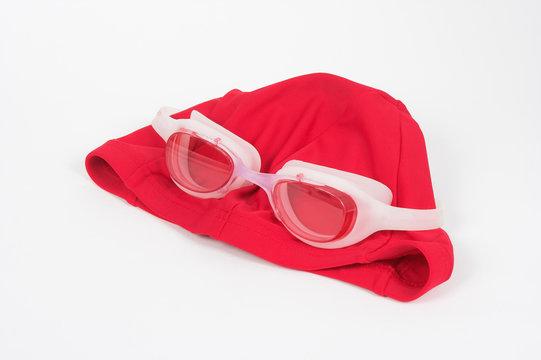 gafas y gorro de piscina