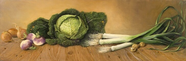 Nature morte avant de la cuisiner