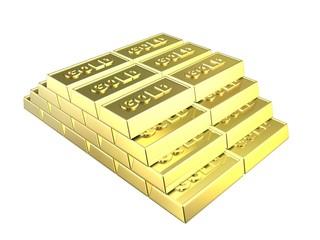 pyramide aus goldbarren