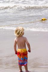 beach scene 2- young boy