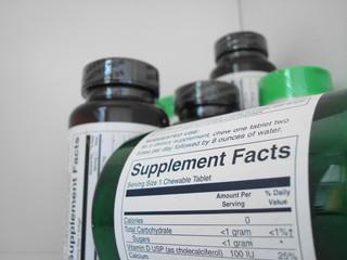 vitamin bottles