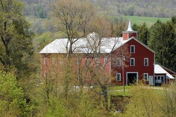 big red barn, horizontal