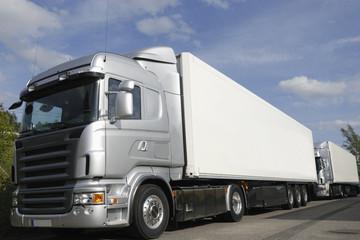 brand new trucks in silver-grey