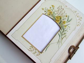 page d'album à fleurs jaunes