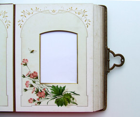 page d'album à fleurs