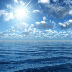 sunshine upon the ocean