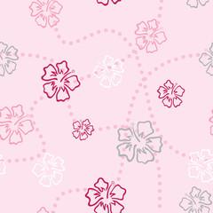 seamless hibiscus