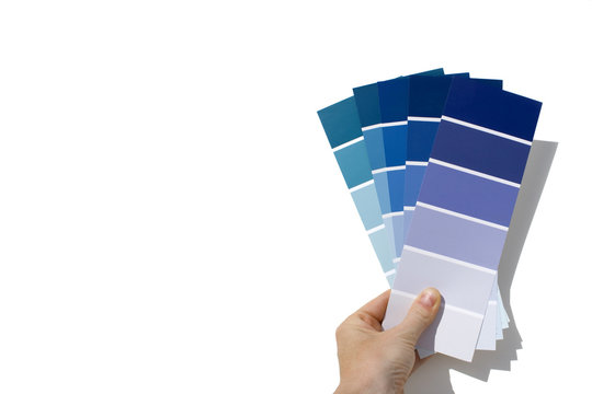 paint swatches - blue