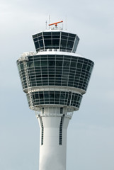white airport control tower