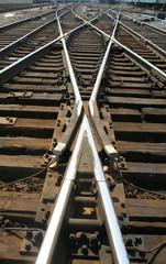 Wall Murals Railroad geometry iron roads