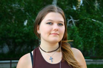 sweet girl with cross