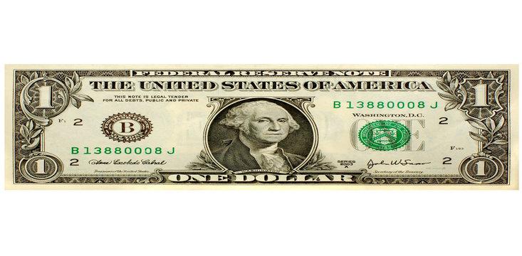 stretched dollar bill