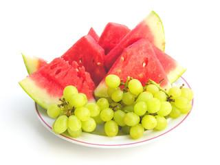 pastèque et raisins
