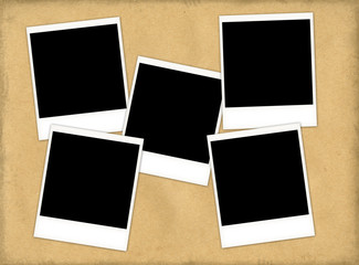paper texture with five slides (with clipping path