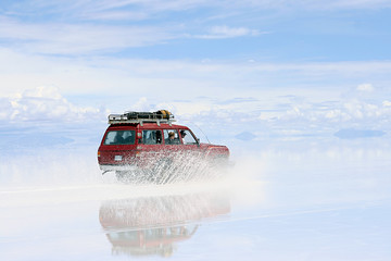 adventure on the bolivian salt-flats