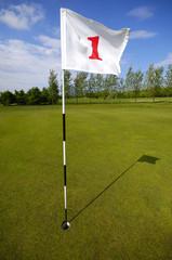 golf flag number one