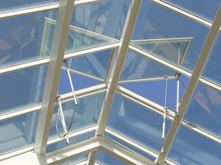 overhead glass roof