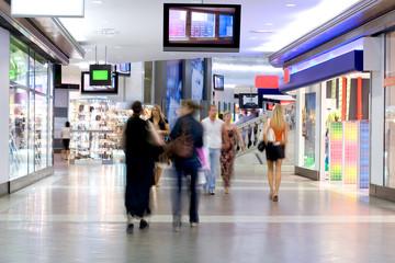 Fotobehang Apotheek shoppers at shopping center 2