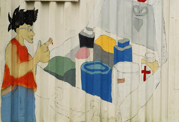 painting of first-aid box