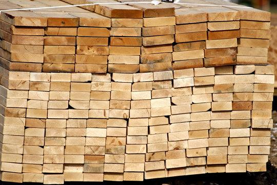 lumber-bundled wood