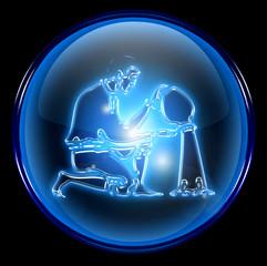 aquarius zodiac button icon