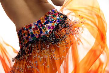 orange belly dancer
