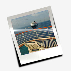 Polaroid slide from cruise vacation