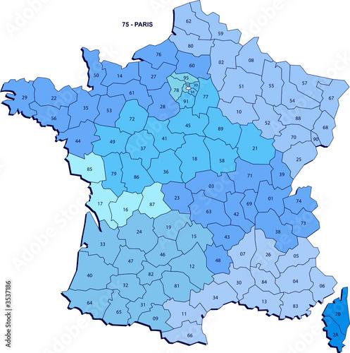 carte de département de france Carte des département de France métropolitaine