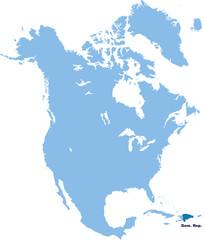 carte de République Dominicaine