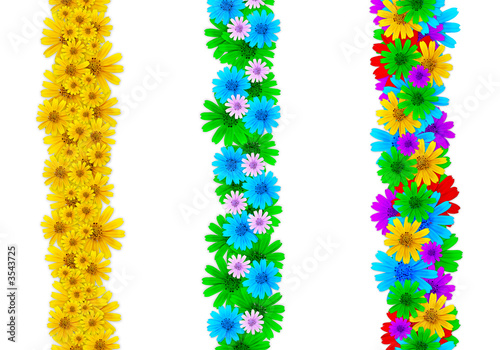 colorful page borders. Colorful floral design elements for page borders  Stock photo and