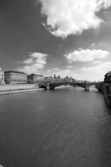 The Seine in black and white