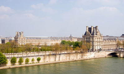 The Louvre across the Seine River