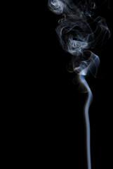 Smoke wave / line on black background .