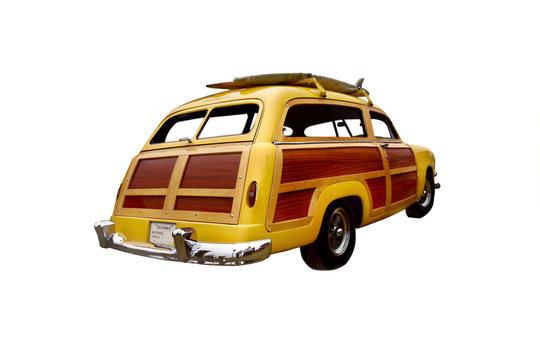 early 50's era woody station wagon,
