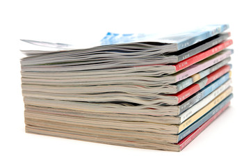 Stack of old magazine