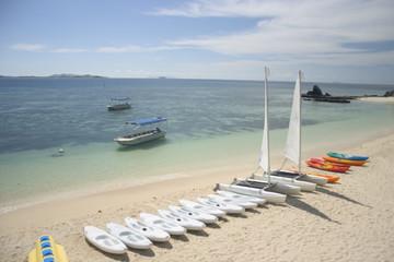Kayaks and Sailboats, Fiji