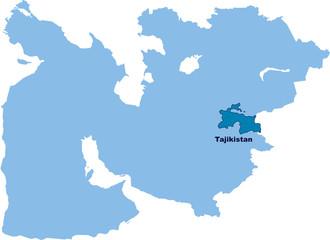 carte du Tadjikistan