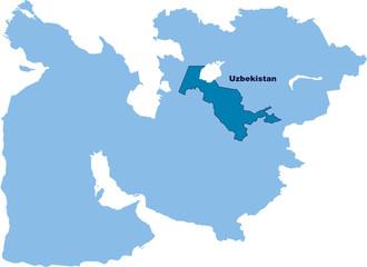 carte Ouzbékistan