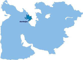 carte Azerbaïdjan