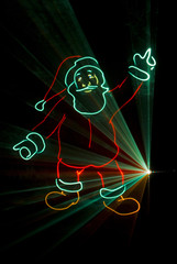 laser père noel