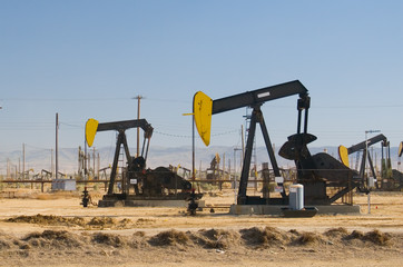 Oil field in California's Central Valley.